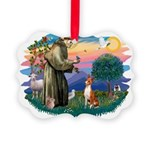 St Francis #2/ Basenji Picture Ornament