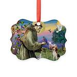 St Francis/Beagle Picture Ornament