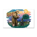 St Francis #2/ B Shepherd Rectangle Car Magnet