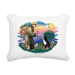 St Francis #2/ BMD Rectangular Canvas Pillow