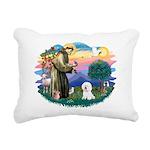 St Francis #2/ Bichon #1 Rectangular Canvas Pillow