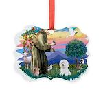 St Francis #2/ Bichon #1 Picture Ornament