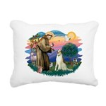 St Francis #2/ Borzoi Rectangular Canvas Pillow