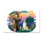 St Francis #2/ Borzoi Rectangle Car Magnet