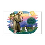 St Francis #2/ Boston Ter Rectangle Car Magnet