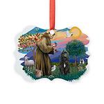 St Francis #2/ Bouvier Picture Ornament