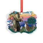 St.Francis #2/ Boxer (nat ea Picture Ornament