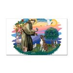 St.Francis #2/ Boxer (nat ea Rectangle Car Magnet