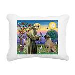 St Francis / Bullmastiff Rectangular Canvas Pillow