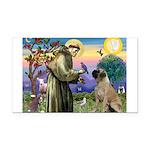 St Francis / Bullmastiff Rectangle Car Magnet
