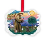 St Francis #2/ Cairn (br) Picture Ornament