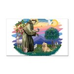 St Francis #2/ Cairn Ter Rectangle Car Magnet