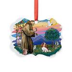 St.Francis #2/ Cavalier (bl) Picture Ornament