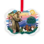 St Francis #2/ Cavaliers Picture Ornament