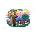 St Francis #2/ Cavaliers Rectangle Car Magnet