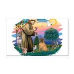 St.Francis #2/ Shar Pei (#3) Rectangle Car Magnet