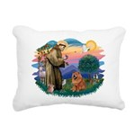 St Francis #2/ Chow (R) Rectangular Canvas Pillow