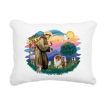 St Francis #2/ Chow (B) Rectangular Canvas Pillow