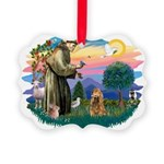 St.Fran #2/ Cocker (brn) Picture Ornament