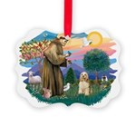 St.Francis #2/ Cocker (buff # Picture Ornament