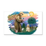 St.Francis #2/ Cocker (buff # Rectangle Car Magnet