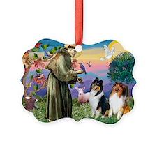 St Francis / Collie Pair Picture Ornament