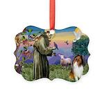 St. Francis & Collie Picture Ornament