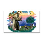 St.Fran #2/ Dachshund (BT) Rectangle Car Magnet