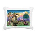 St Francis Doxie Rectangular Canvas Pillow
