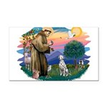 St Francis #2/ Dalmatian Rectangle Car Magnet