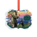 St.Francis #2/ Dobie (cropped Picture Ornament