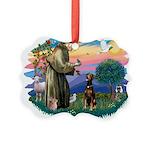 St Francis #2/ Doberman Picture Ornament