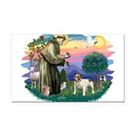St.Fran #2/ English Bulldog Rectangle Car Magnet