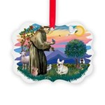 St.Francis #2/ Fr Bulldog (f) Picture Ornament