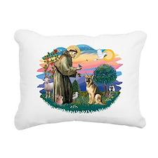 St.Francis #2/ Ger Shep #2 Rectangular Canvas Pill