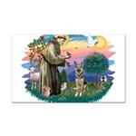 St.Francis #2/ German Shep (P Rectangle Car Magnet