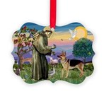 St Francis / G Shep Picture Ornament