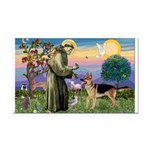 St Francis / G Shep Rectangle Car Magnet