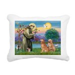StFrancis-2Goldens.png Rectangular Canvas Pillow