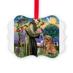 Saint Francis' Golden Picture Ornament