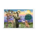 Saint Francis' Golden Rectangle Car Magnet
