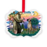 St.Fran. #2/ Great Dane (nat) Picture Ornament