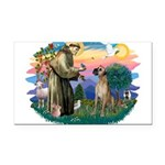 St.Fran. #2/ Great Dane (nat) Rectangle Car Magnet