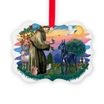 St.Francis #2/ Great Dane (bl Picture Ornament