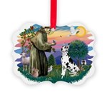 St.Francis #2/ Great Dane (H) Picture Ornament