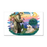 St.Francis #2/ Pyrenees#2 Rectangle Car Magnet