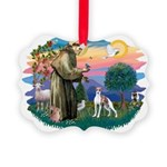 St.Francis #2/ Italian Greyho Picture Ornament