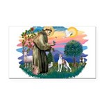 St.Francis #2/ Italian Greyho Rectangle Car Magnet