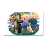 St.Francis #2/ Yellow Lab Rectangle Car Magnet