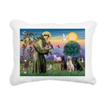 St. Francis/3 Labradors Rectangular Canvas Pillow